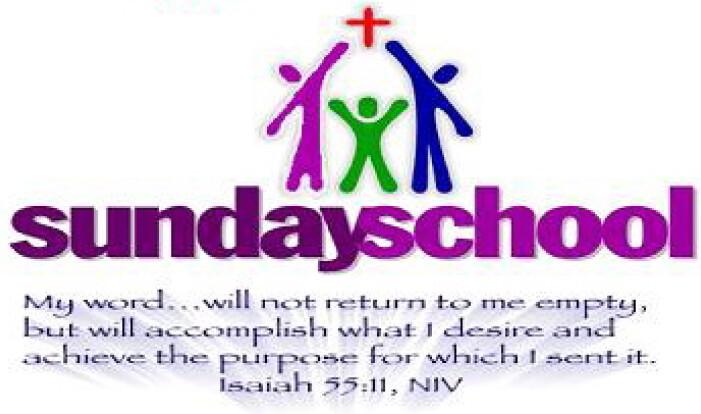 9:00 AM Sunday School - Sundays 9:00 AM