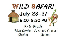 Vacation Bible School - Daily 6:30 PM
